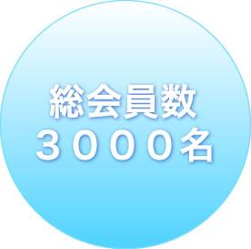 総会員数 3000名